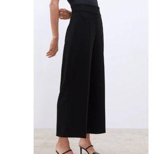 Zara High Rise Culottes in Black